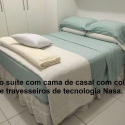 quarto suíte com cama de casal, ar condicionado novo c/controle remoto